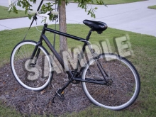 SAMPLE -- black Fixie w/rear brake